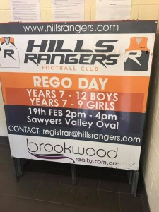 Hills Rangers Rego Day